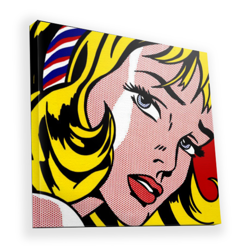 Blonde Girl - Canvas Art 90x90