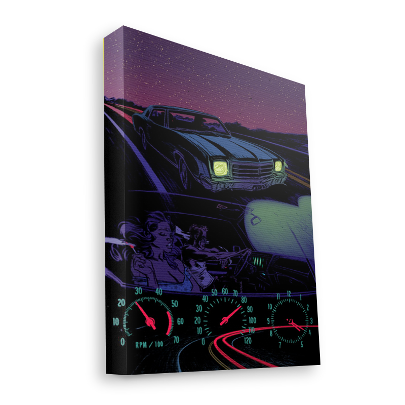 Night Ride - Canvas Art 60x75