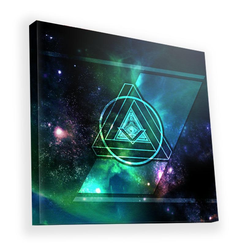 Triangle Galaxy 2 - Canvas Art 90x90