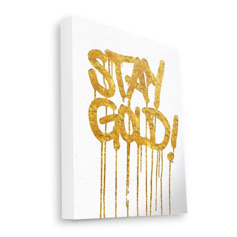 Stay Gold - Canvas Art 60x75