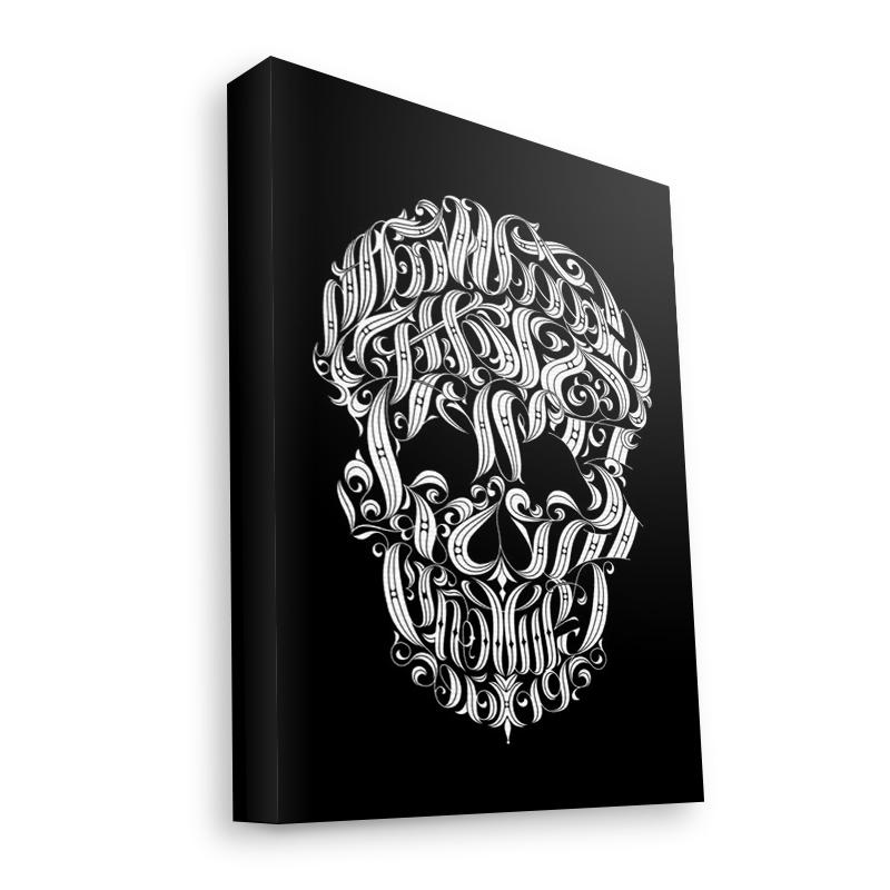 Ribbon Cranium - Canvas Art 60x75