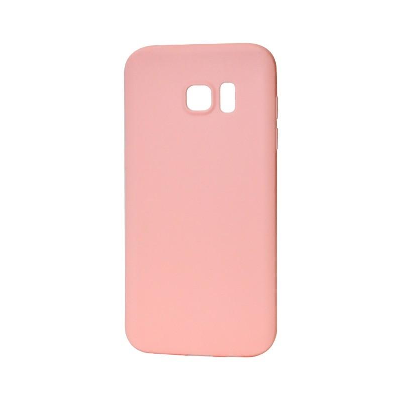 Procell Silky - Samsung Galaxy S7 Edge Carcasa Silicon Roz