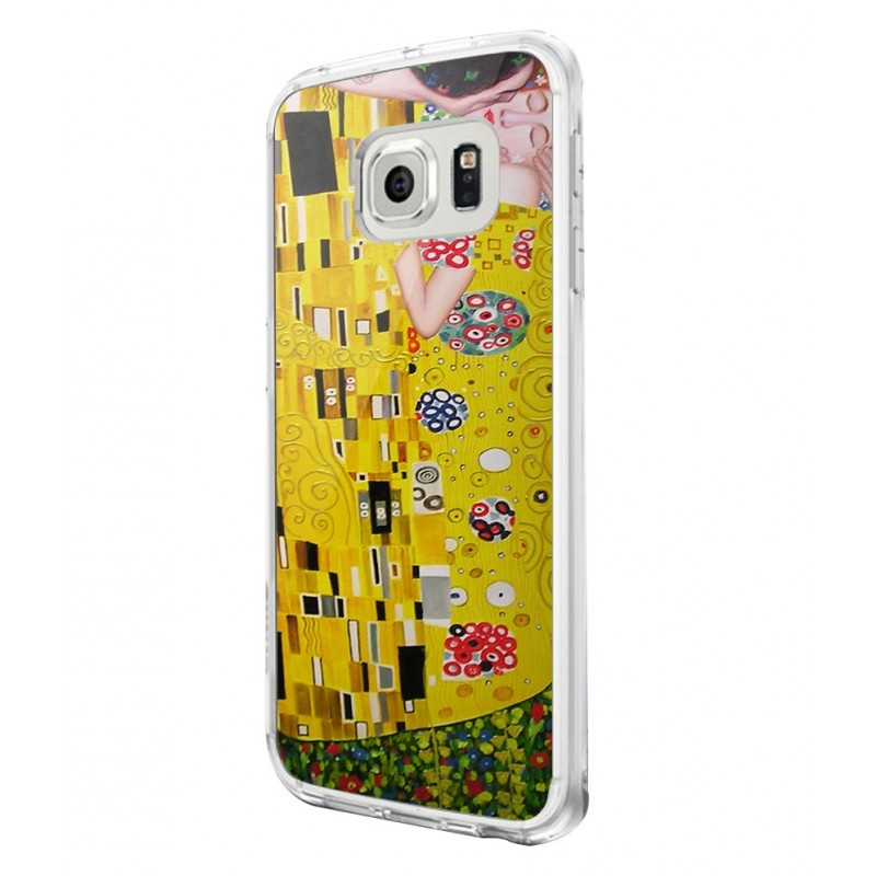 Gustav Klimt - The Kiss - Samsung Galaxy S6 Edge Carcasa Silicon Premium
