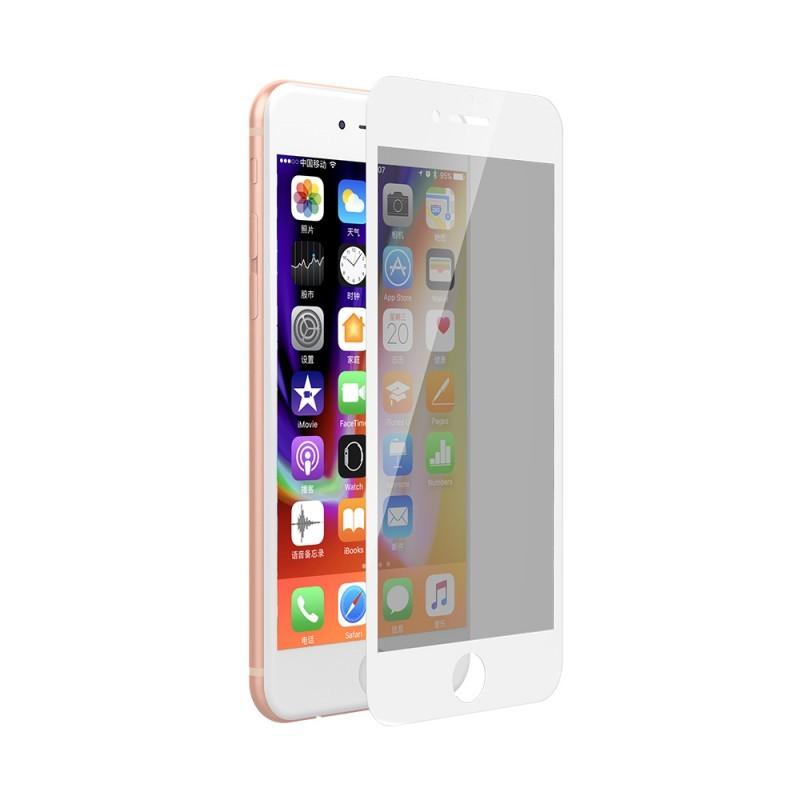 Folie Devia Sticla Privacy Full White (0.26mm, 9H) - iPhone 8 Plus / 7 Plus