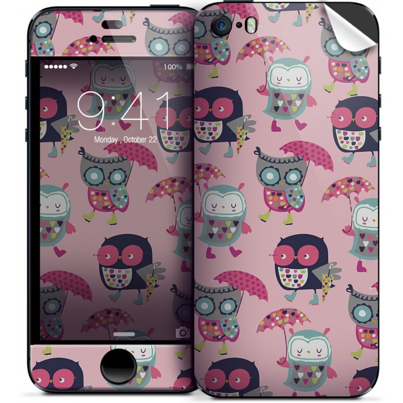 Pastel Owls - iPhone 5C Skin