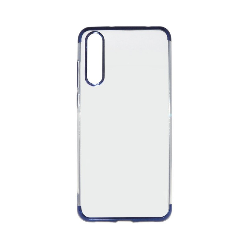 Just Must Electro Simple Blue - Huawei P20 Pro Carcasa Silicon (spate transparent, margini elctroplacate)