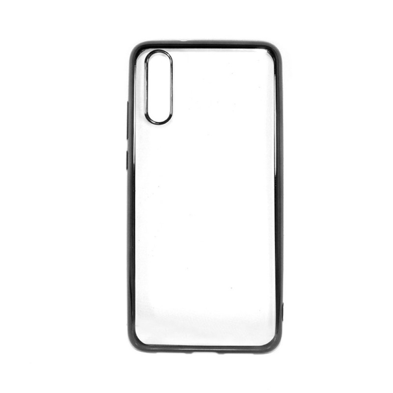Just Must Mirror Black - Huawei P20 Carcasa Silicon (spate transparent, margini elctroplacate)