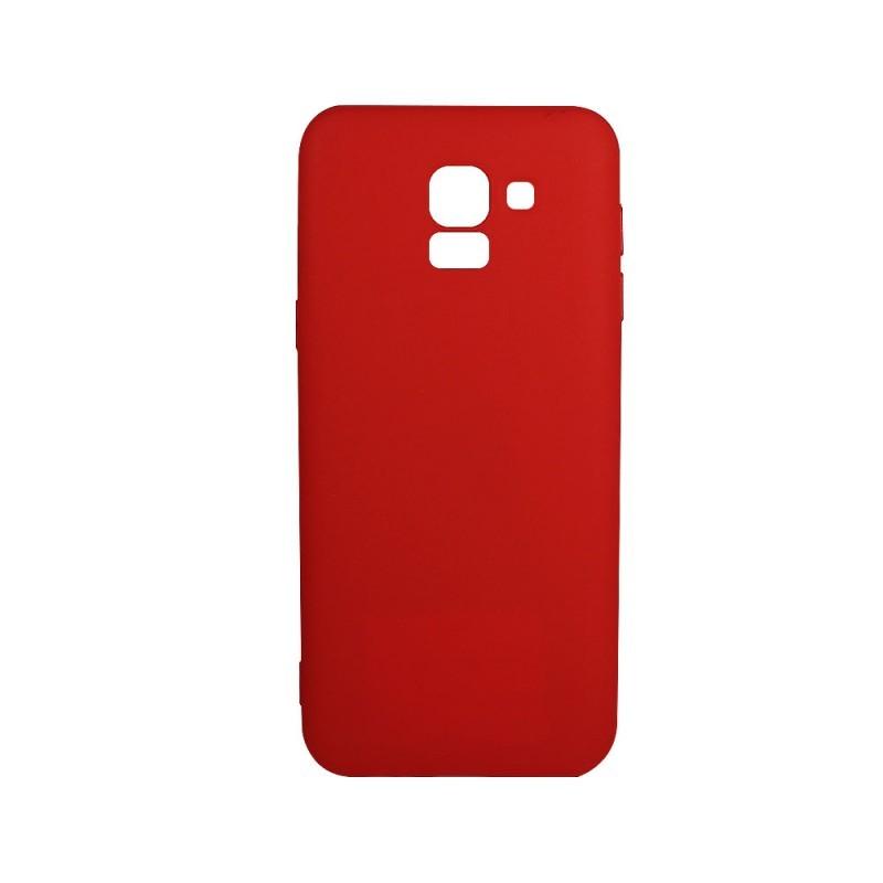 Procell Silky - Samsung Galaxy J6 (2018) Carcasa Silicon Rosu