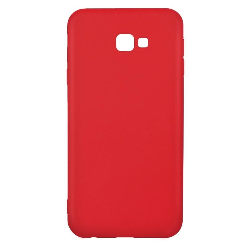 Procell Silky - Samsung Galaxy J4 Plus Carcasa Silicon Rosu
