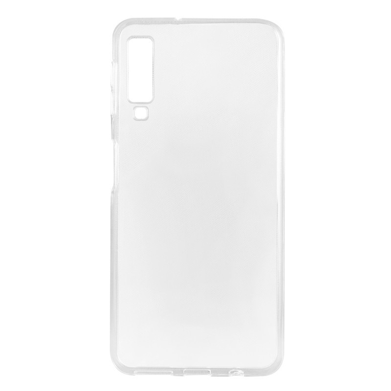Lemontti - Samsung Galaxy A7 (2018) Carcasa Silicon Transparent