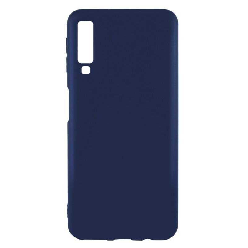 Just Must Candy Navy - Samsung Galaxy A7 (2018) Carcasa Silicon Albastru Inchis