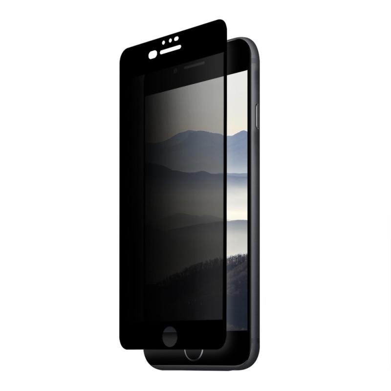 Folie Eiger Sticla 3D Privacy Black (0.33mm, 9H, case friendly, curved, oleophobic) - iPhone 8 Plus / 7 Plus / 6s Plus