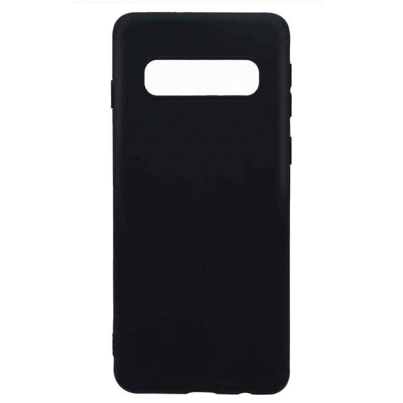 Lemontti Silky - Samsung Galaxy S10 Carcasa Silicon Negru