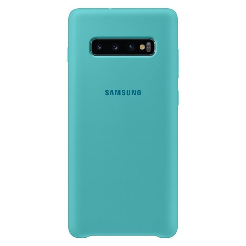 Samsung Silicone Cover Green - Samsung Galaxy S10 Plus Carcasa Silicon