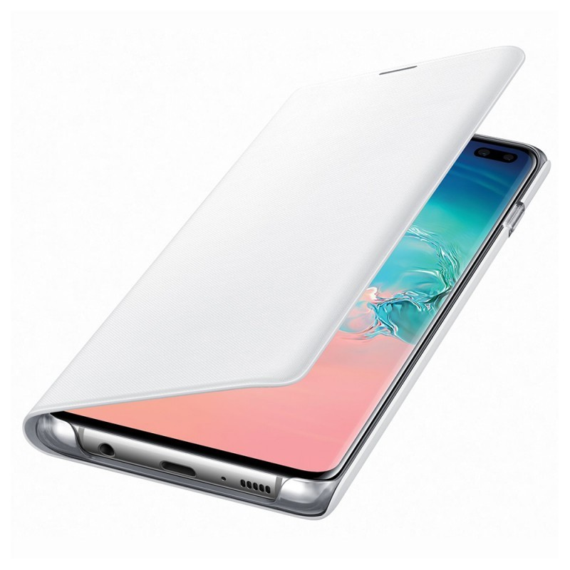 Samsung Book Led View White - Samsung Galaxy S10 Plus Husa Book
