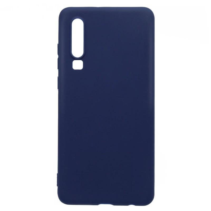 Lemontti Silky - Huawei P30 Carcasa Silicon Albastru Inchis