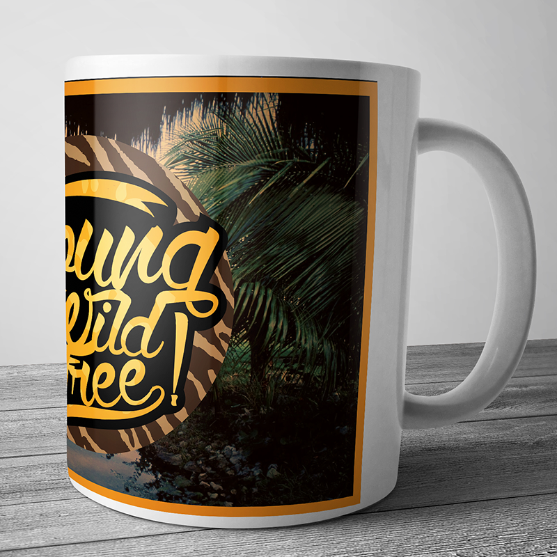 Cana personalizata - Young, Wild & Free - Jungle