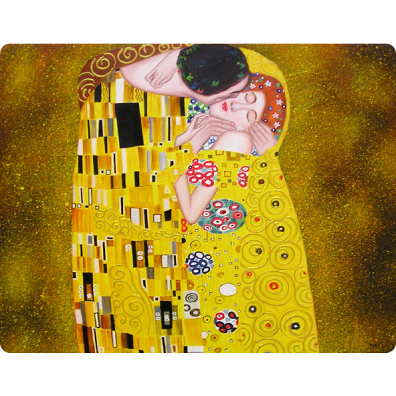 Gustav Klimt - The Kiss - Samsung Galaxy S3 Mini Carcasa Transparenta Plastic