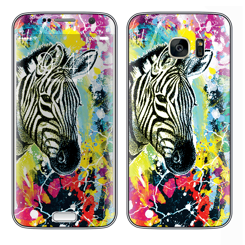 Zebra Splash - Samsung Galaxy S7 Edge Skin