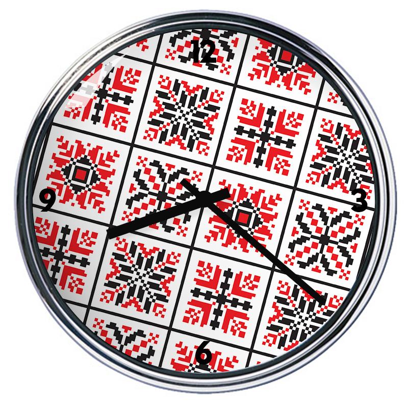 Ceas personalizat - Rosu si Negru
