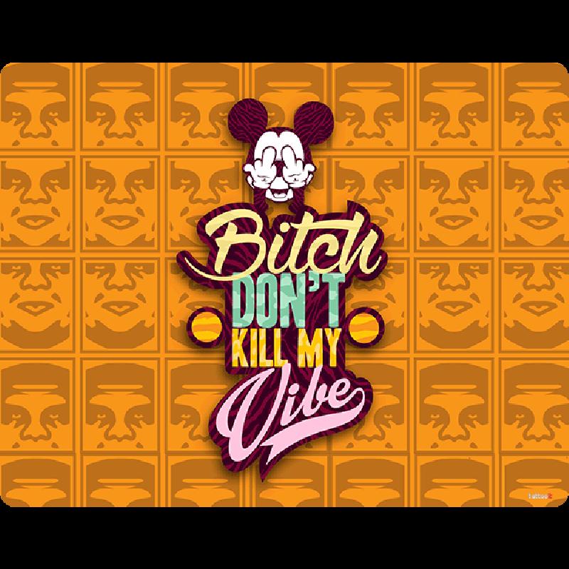 Bitch Don't Kill My Vibe - Obey - Sony Xperia E1 Carcasa Neagra Silicon