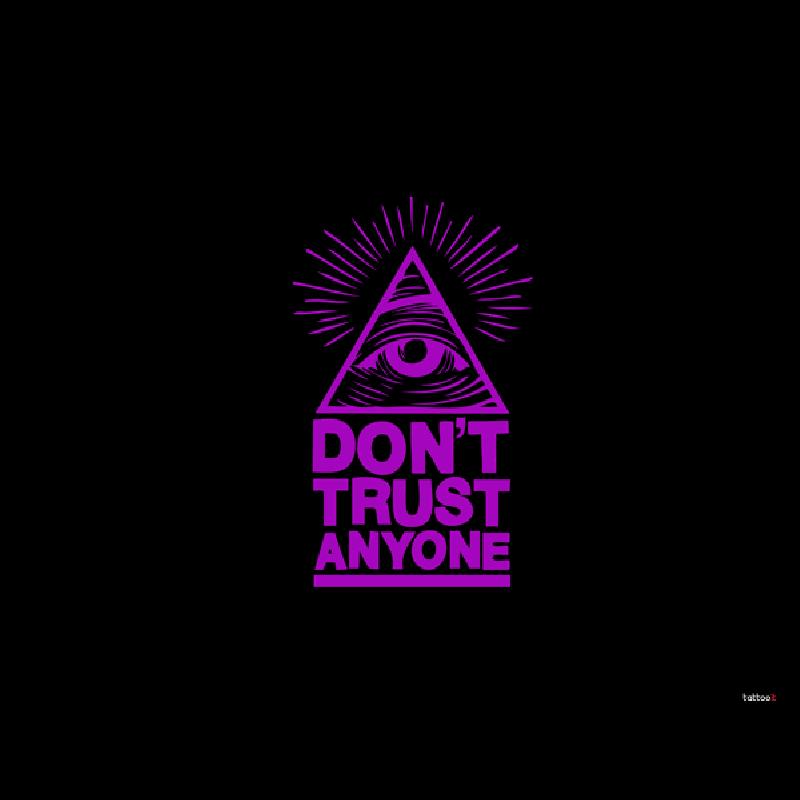 Don't Trust Anyone - Samsung Galaxy S4 Carcasa Transparenta Silicon
