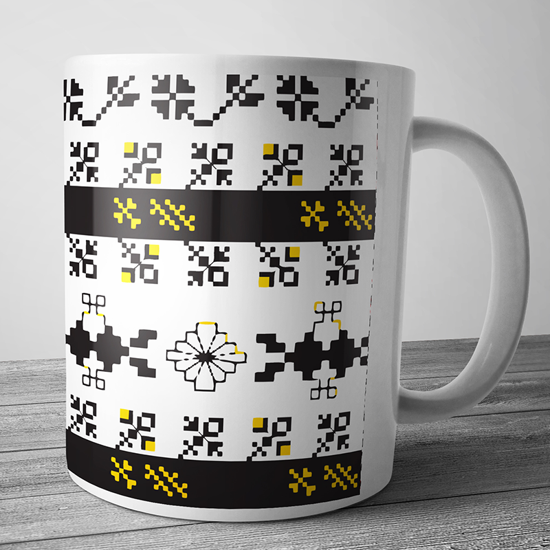 Cana personalizata - Black & Yellow