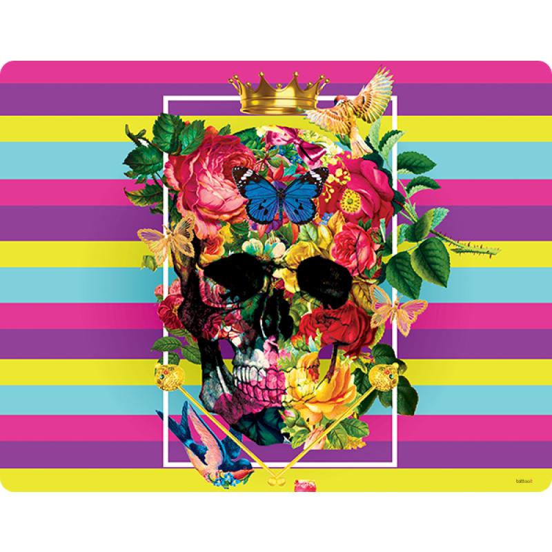 Floral Explosion Skull - Skin Telefon