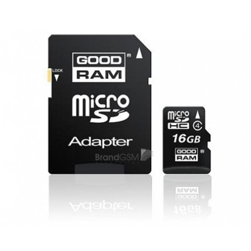 Card Memorie Goodram MicroSD 16 GB + Adaptor