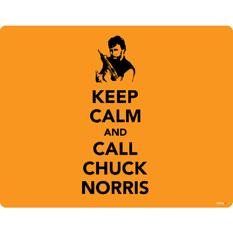 Keep Calm and Call Chuck Norris - Skin Telefon