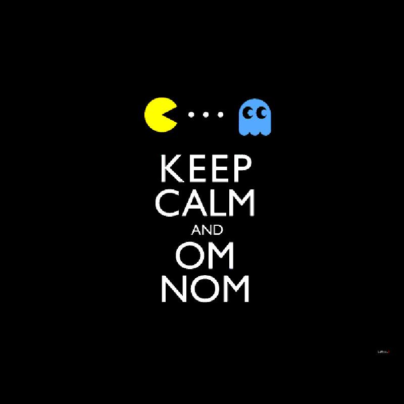 Keep Calm and Om Nom - Skin Telefon