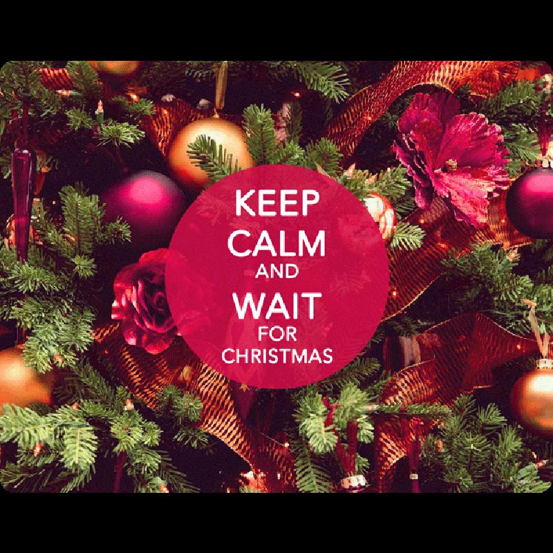 Keep Calm and Wait for Christmas - Skin Telefon