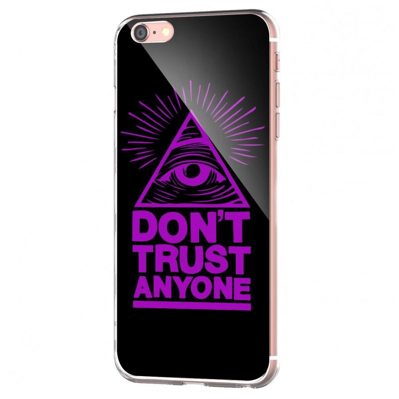 Don't Trust Anyone - iPhone 6 Carcasa Transparenta Silicon