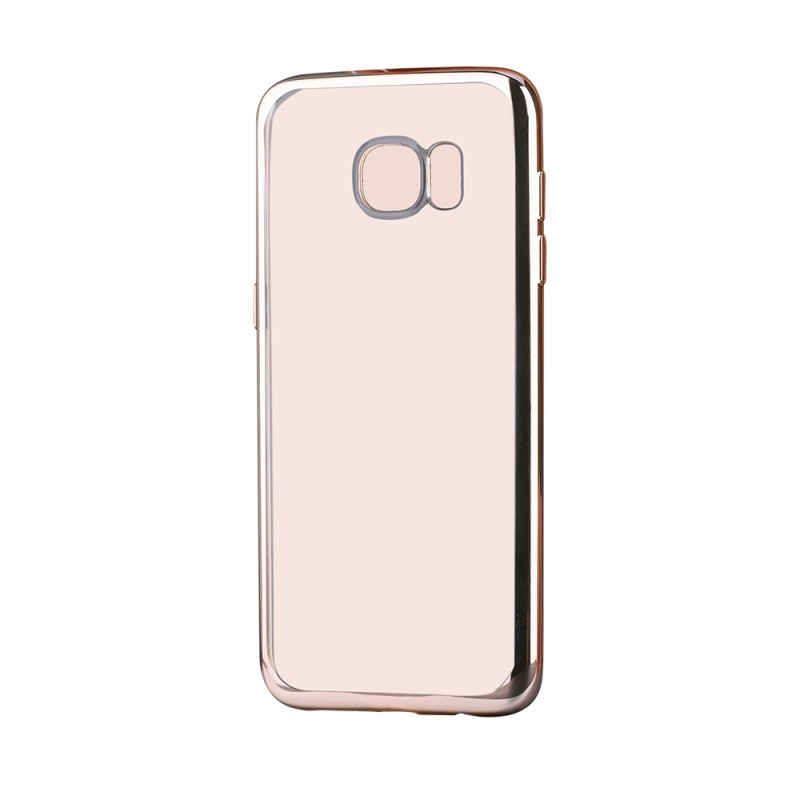 Glitter Soft Champagne Gold - Devia Samsung Galaxy S7 Carcasa Silicon (margini electroplacate)