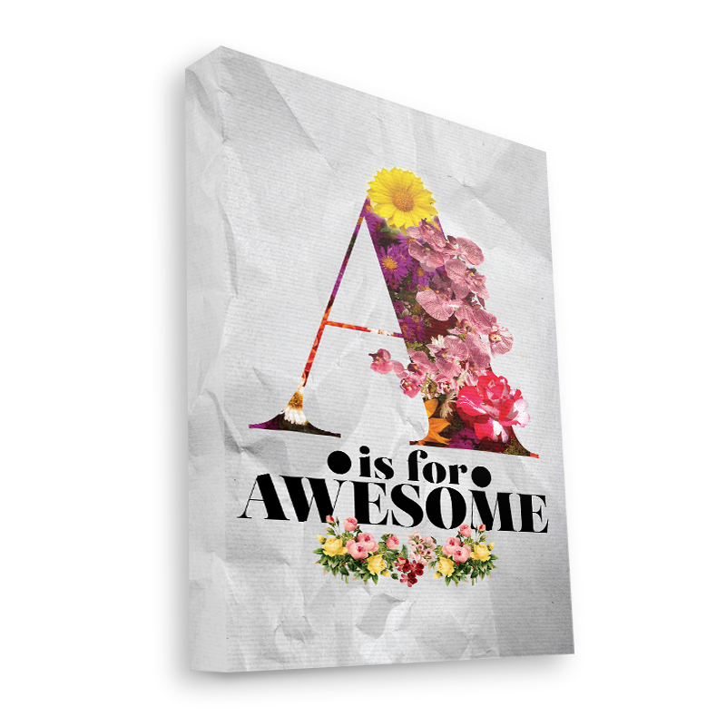 A is for Awesome - Canvas Art 35x30
