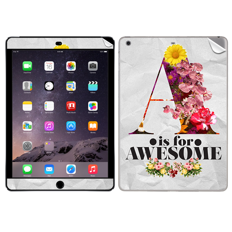 A is for Awesome - Apple iPad Air 2 Skin