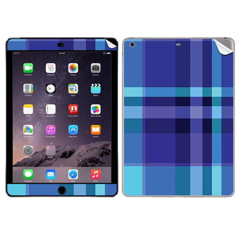 Blue Plaid - Apple iPad Air 2 Skin