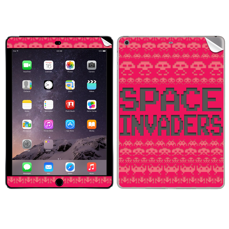 Space Invaders Red - Apple iPad Air 2 Skin