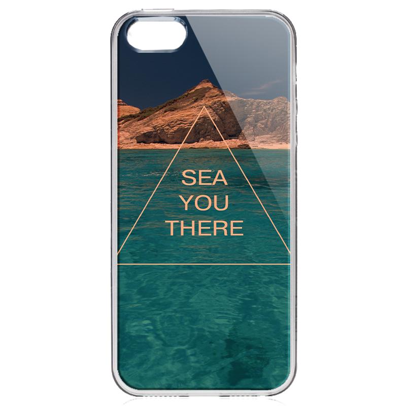 Sea You There - iPhone 5/5S Carcasa Transparenta Silicon