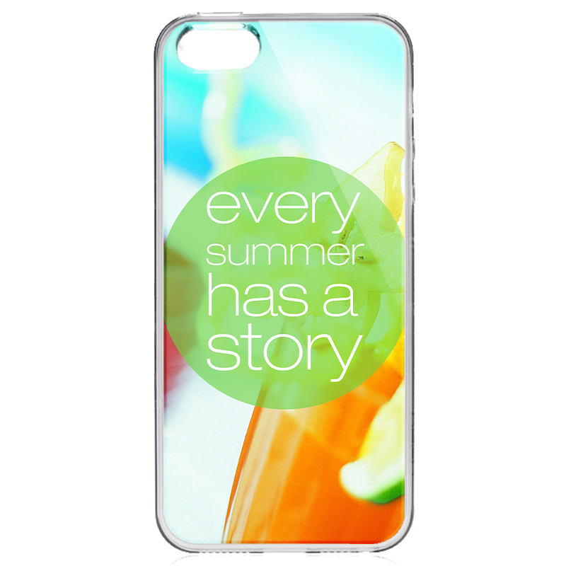 Summer Story - iPhone 5/5S Carcasa Transparenta Silicon