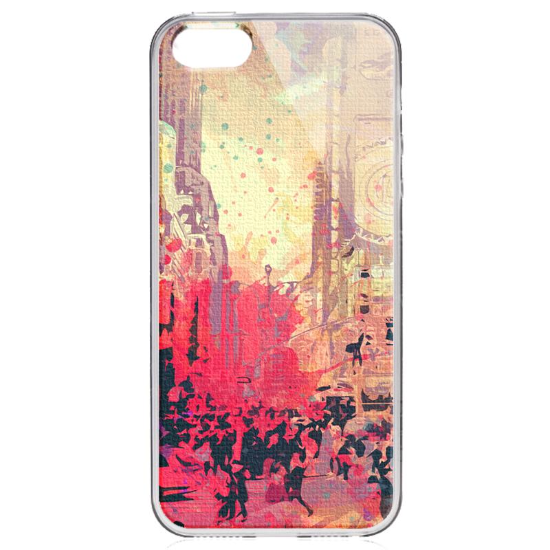 New York Time Square - iPhone 5/5S/SE Carcasa Transparenta Silicon