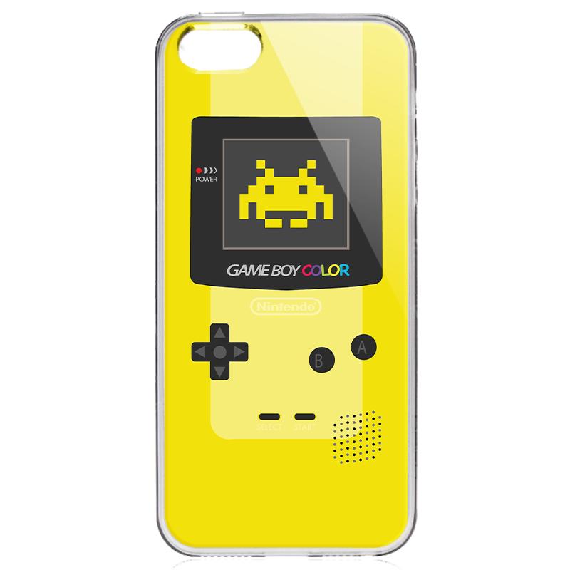 Gameboy Yellow - iPhone 5/5S/SE Carcasa Transparenta Silicon