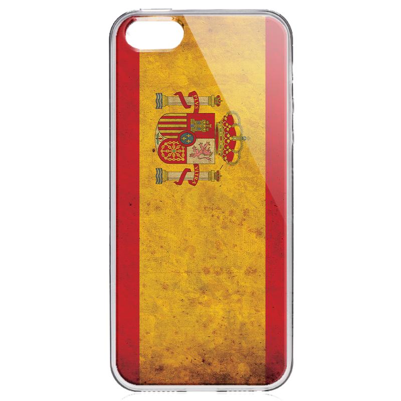 Spania - iPhone 5/5S/SE Carcasa Transparenta Silicon