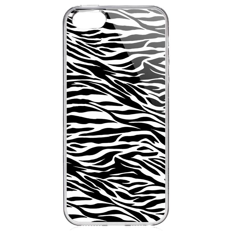 Zebra Labyrinth - iPhone 5/5S/SE Carcasa Transparenta Silicon