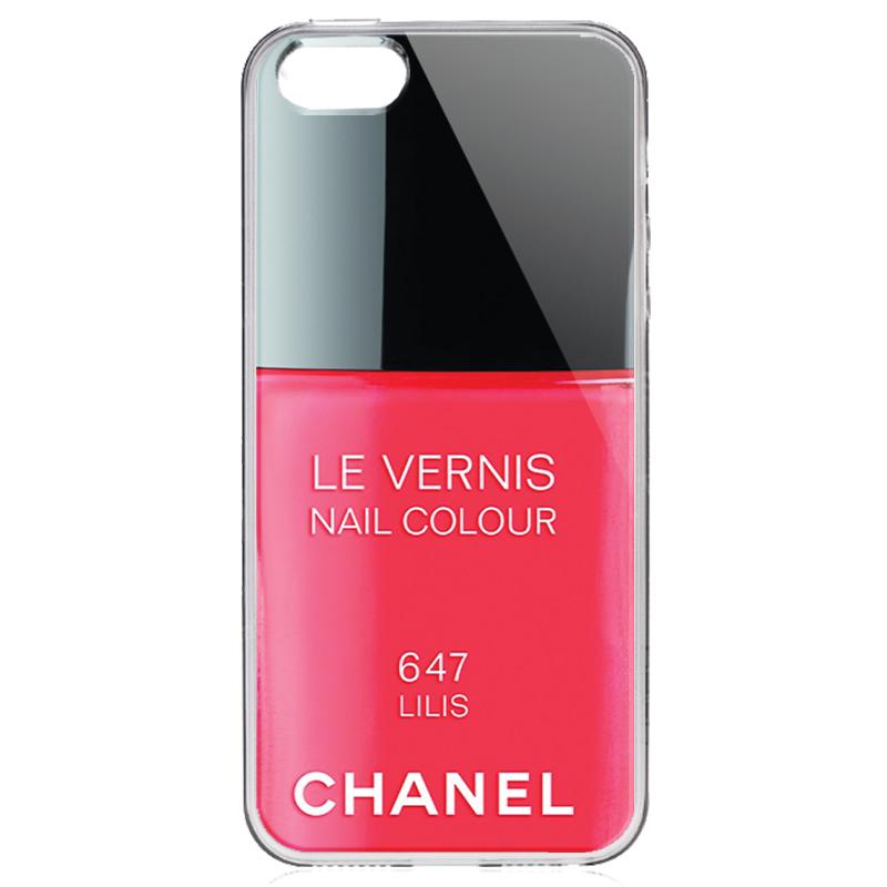 Chanel Lilis Nail Polish - iPhone 5/5S/SE Carcasa Transparenta Silicon