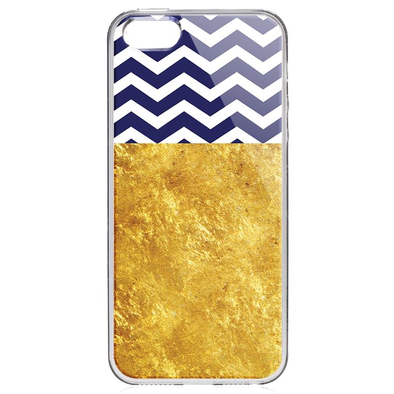 Chevron - iPhone 5/5S/SE Carcasa Transparenta Silicon