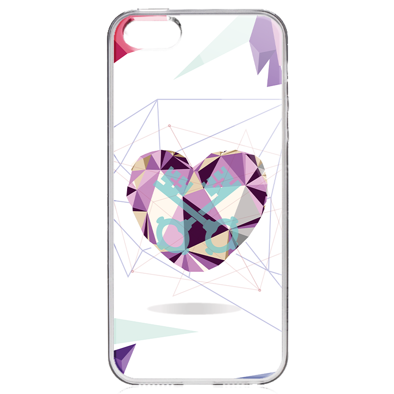 Love Keys - iPhone 5/5S/SE Carcasa Transparenta Silicon