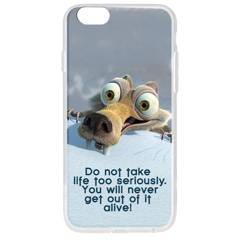 Alive - iPhone 6 Plus Carcasa Transparenta Silicon