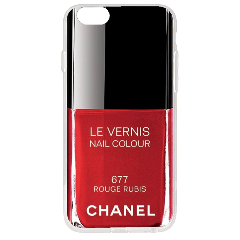 Chanel Rouge Rubis Nail Polish - iPhone 6 Plus Carcasa Transparenta Silicon
