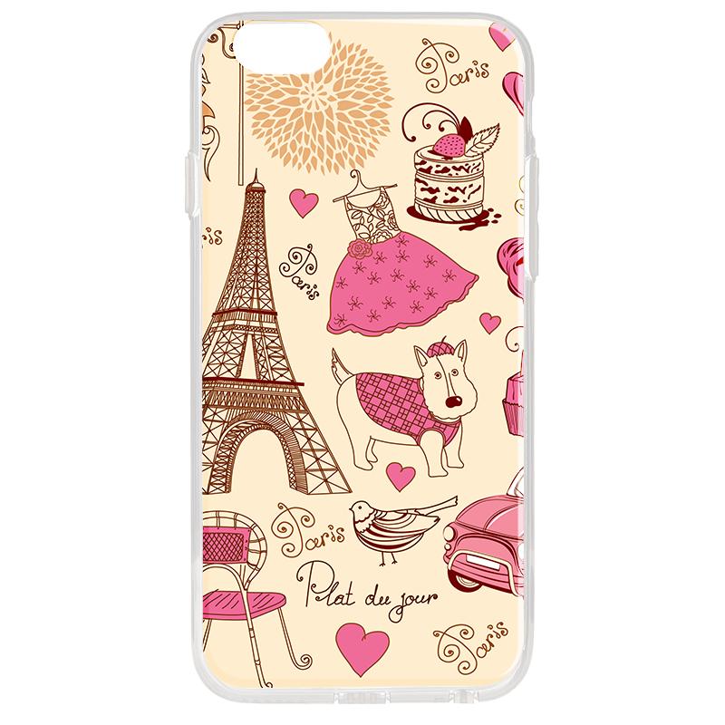 France - iPhone 6 Plus Carcasa Transparenta Silicon